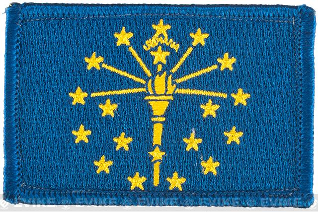 Evike.com Tactical Embroidered Flag Patch (State: Indiana The Hoosier State)
