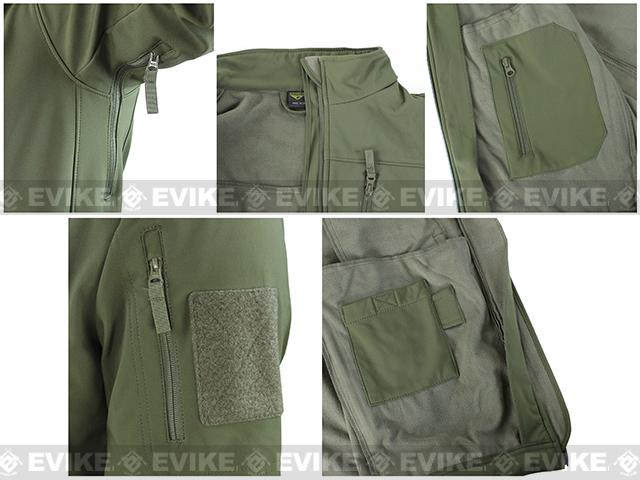 Condor Tactical Phantom Soft Shell Jacket - OD Green (Size: Large)