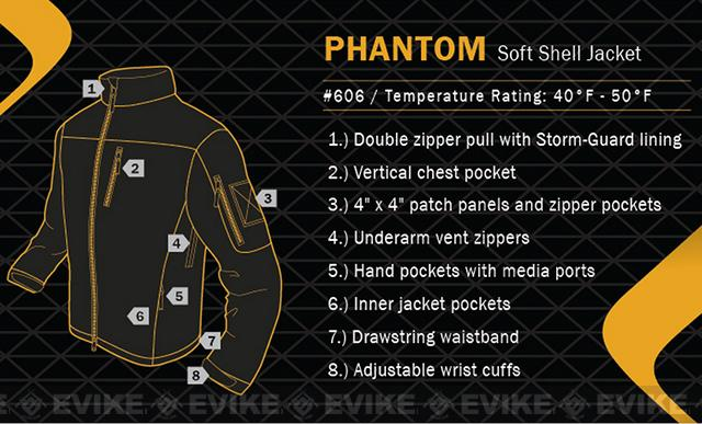 z Condor Tactical Phantom Soft Shell Jacket - Black (Size: XX-Large)