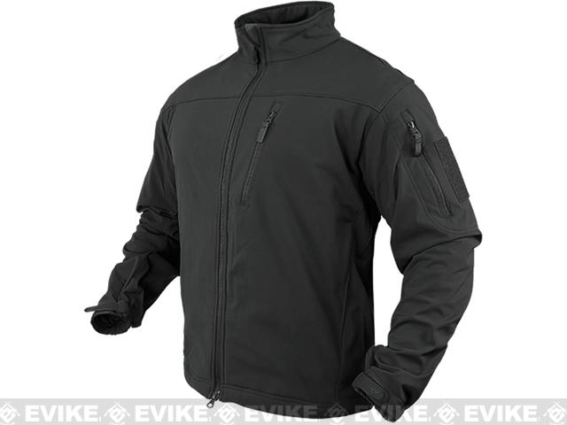 Condor Tactical Phantom Soft Shell Jacket - Black (Size: Small)
