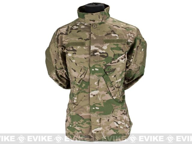 Military Uniform Combat Jacket - Land Camo / Large