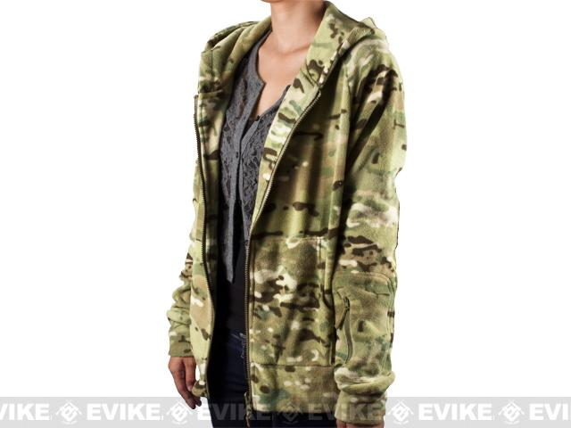 Emerson Warm Fleece Women's Jacket - Land Camo - Small