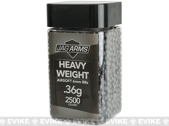 JAG Armament Heavyweight Match Grade .36g Airsoft BBs - Black (2500 Rounds)
