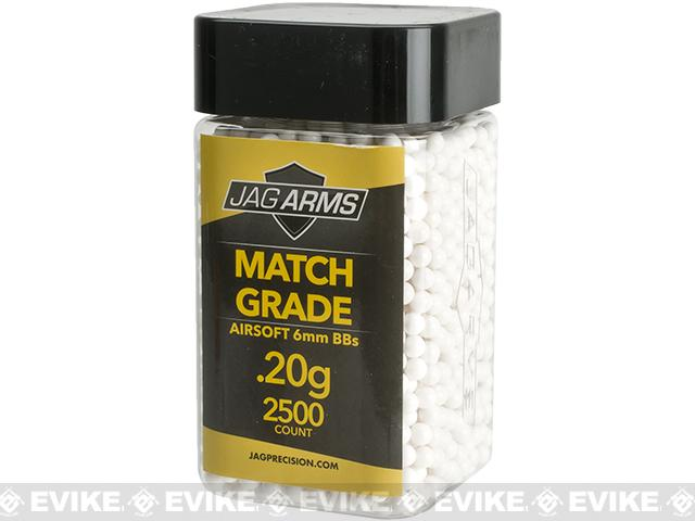 JAG Armament Match Grade Airsoft BBs - White (QTY: 1 Bottle / 0.20g 2,500 Rounds)