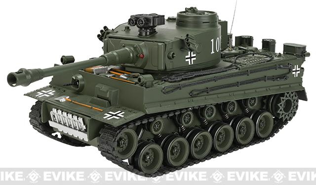 1:20 Scale RC Airsoft Battle Tank - Tiger (Green)