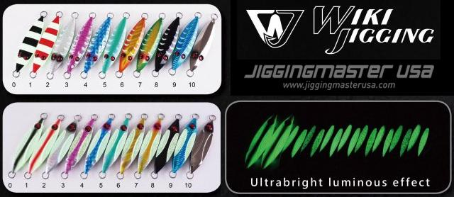 Ocean Fire Slow Jigging Luminous Jig by Wiki Jigging - #10 (Weight: 250g / 8.8oz)