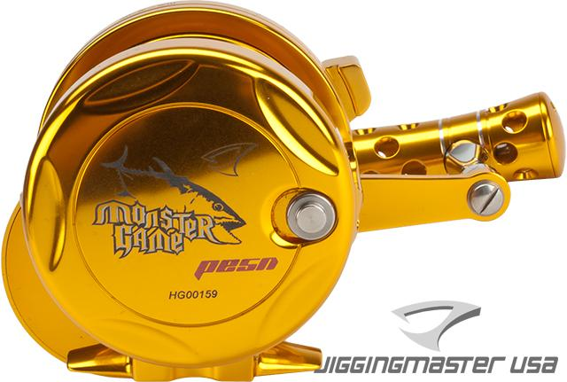 Jigging Master Monster Game High Speed Fishing Reel - Gold (Size: PE5N / Narrow)