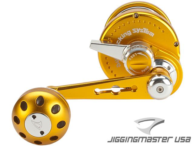 Jigging Master Ocean Devil Fishing Reel - Gold / Silver (Size: PE6)