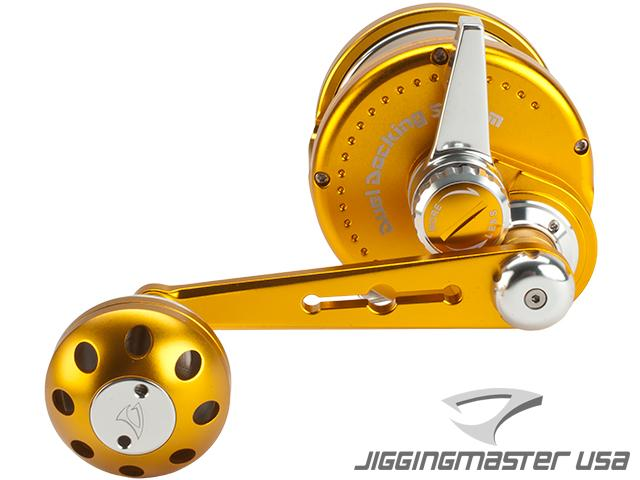Jigging Master Ocean Devil Fishing Reel - Gold / Silver (Size: PE8)