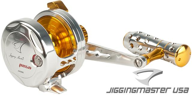 Jigging Master Power Spell Fishing Reel - Silver / Gold (Size: PE5N / Narrow)
