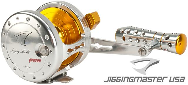 Jigging Master Power Spell Fishing Reel - Silver / Gold (Size: PE8)