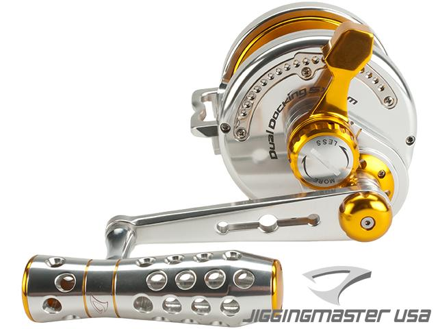Jigging Master Power Spell Fishing Reel - Silver / Gold (Size: PE10)