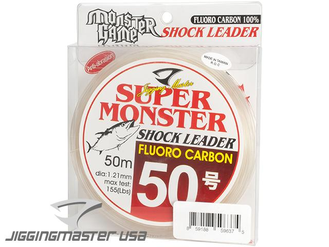 Jigging Master Super Monster 100% Fluorocarbon leader 50M (Test: 155 Lbs)