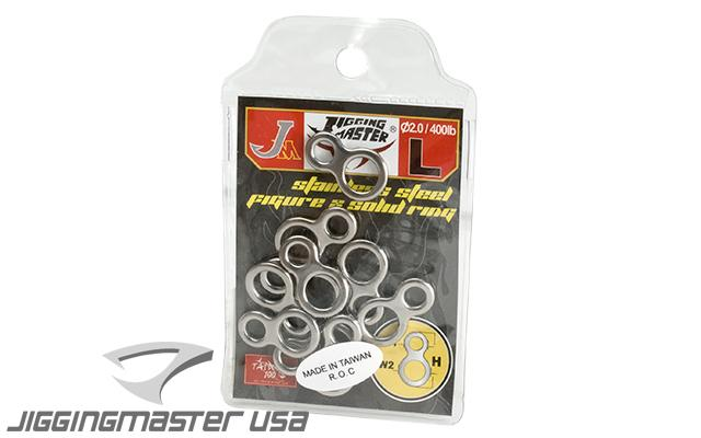 Jigging Master Stainless Steel Figure 8 Ring - 10 pcs (Size: Large)