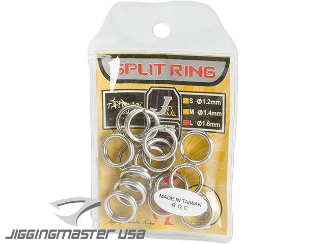 Jigging Master High Elastic Fishing Split Ring (Size: L / 280lb / 15pcs)