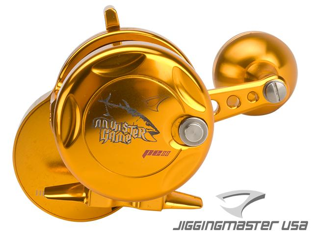 Jigging Master Monster Game High Speed Fishing Reel - Gold / Gold (Size: PE2)