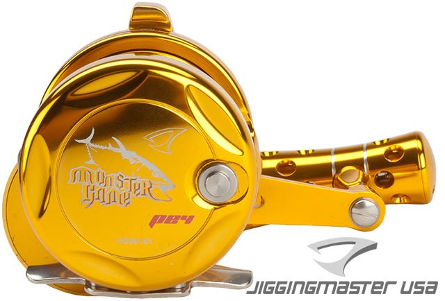 Jigging Master Monster Game High Speed Fishing Reel - Gold (Size: PE4)
