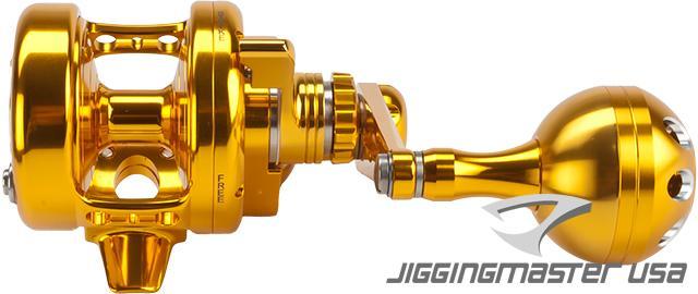 Jigging Master Power Spell Fishing Reel - Gold / Gold (Size: PE2)