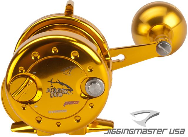 Jigging Master Power Spell Fishing Reel - Gold / Gold (Size: PE2)