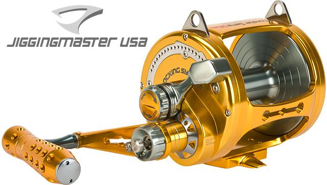 Jigging Master PE20 2-Speed Monster Game Fishing / Trolling Reel (Color: Gold / Grey)