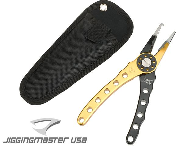 z Jigging Master High Grade Fishing Plier (Color: Black / Gold)
