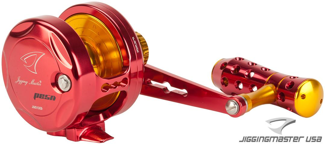 Jigging Master Power Spell Fishing Reel - Red / Gold (Size: PE5N / Narrow)