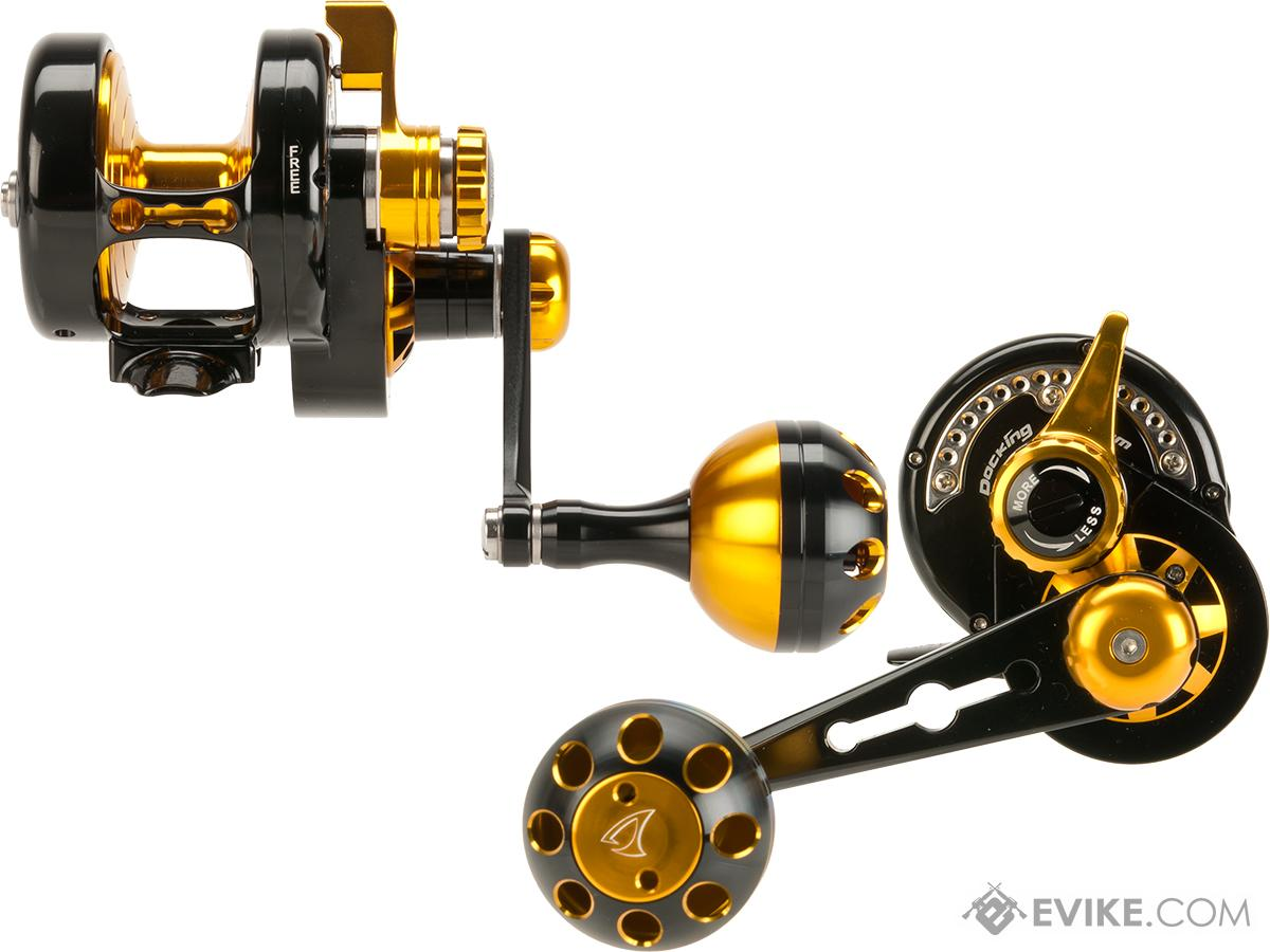 Jigging Master Power Spell Fishing Reel - Black / Gold (Size: PE2)