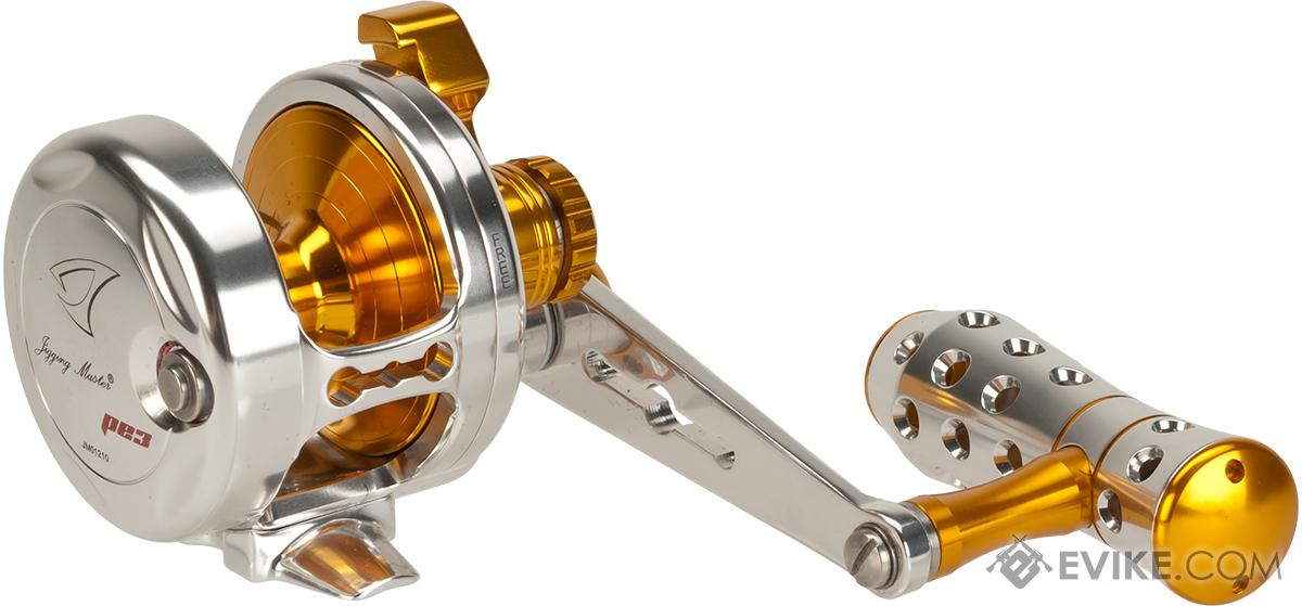 Jigging Master Power Spell Fishing Reel - Silver / Gold (Size: PE3)