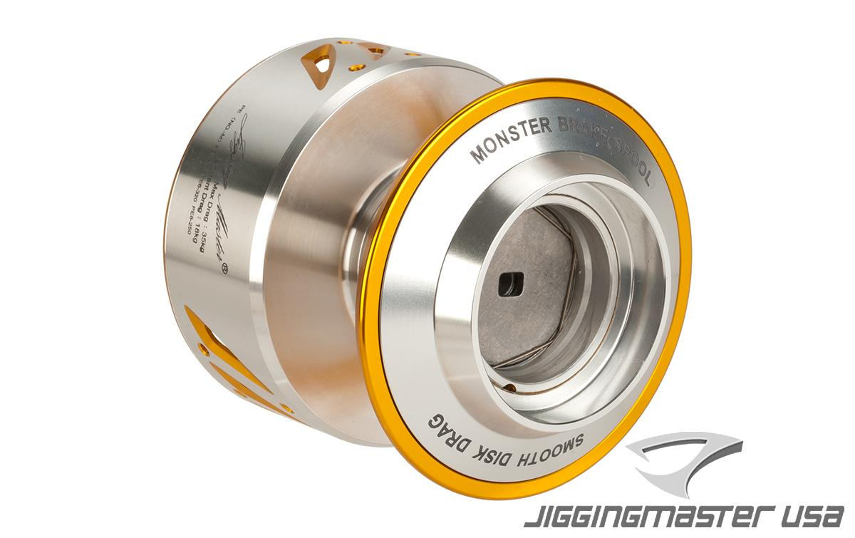 Jigging Master NS-16 16000 Monster Spool for Shimano Stella & Twin Power (Color: SV/GD)