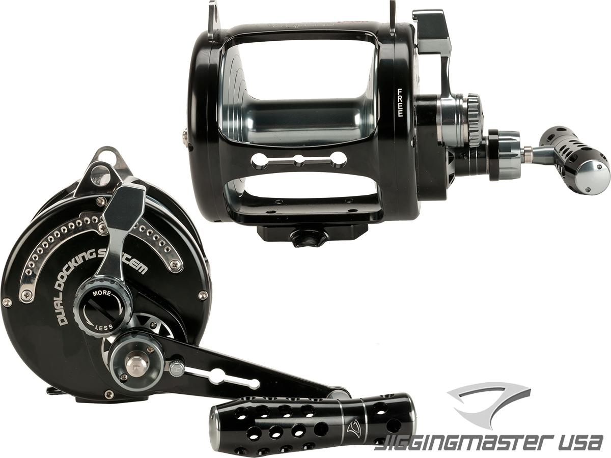 Jigging Master PE20 2-Speed Monster Game Fishing / Trolling Reel - Black / Gray