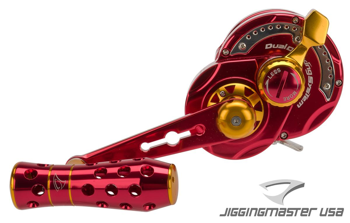 Jigging Master Monster Game High Speed Fishing Reel - Red/Gold (Size: PE5 Left Hand)