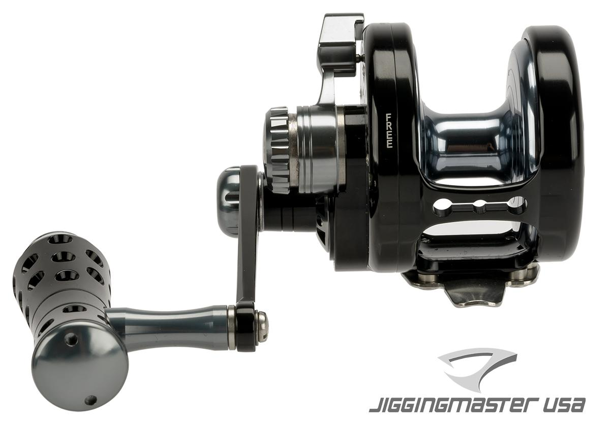 Jigging Master Power Spell Fishing Reel - Black / Gray (Size: PE5 Left Hand)