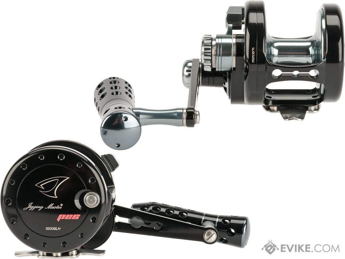 Jigging Master Power Spell Fishing Reel - Black / Gray (Size: PE6 Left Hand)