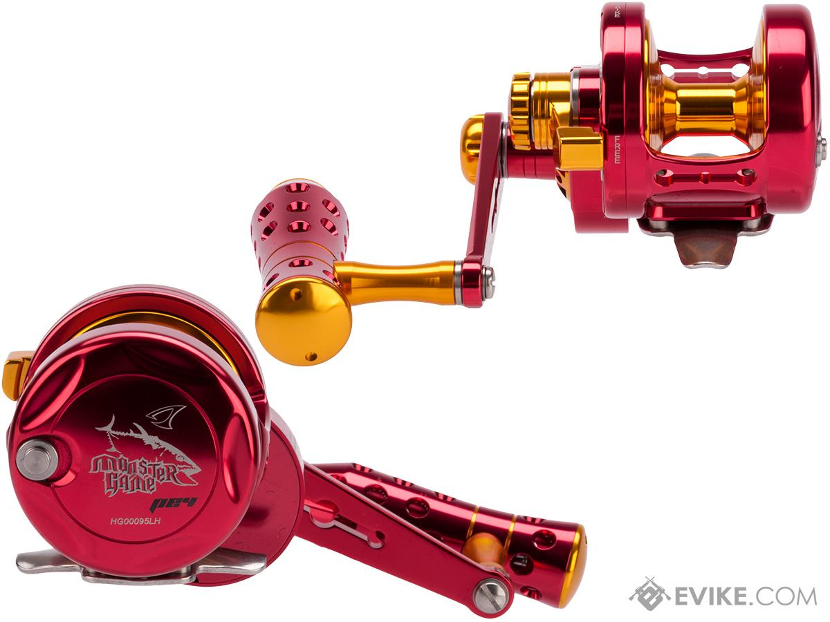 Jigging Master Monster Game High Speed Fishing Reel - Red / Gold (Size: PE4 Left Hand)