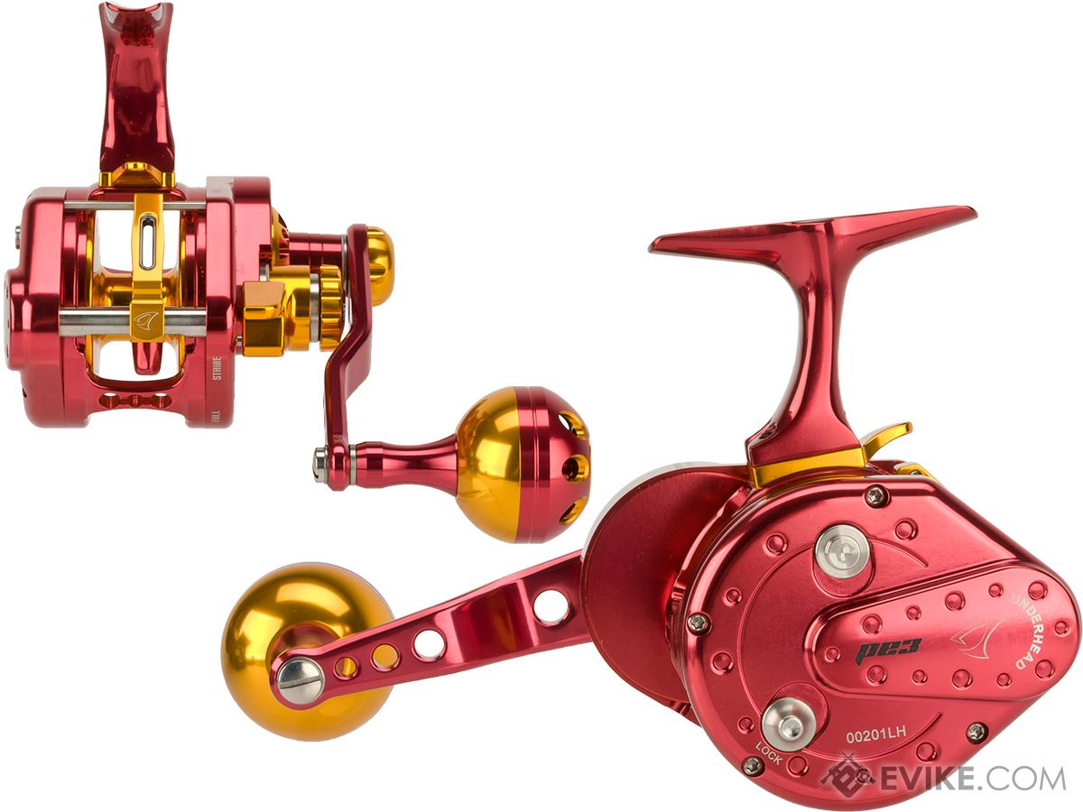 Jigging Master UnderHead Reel - Red / Gold (Size: PE3 / Left Hand)