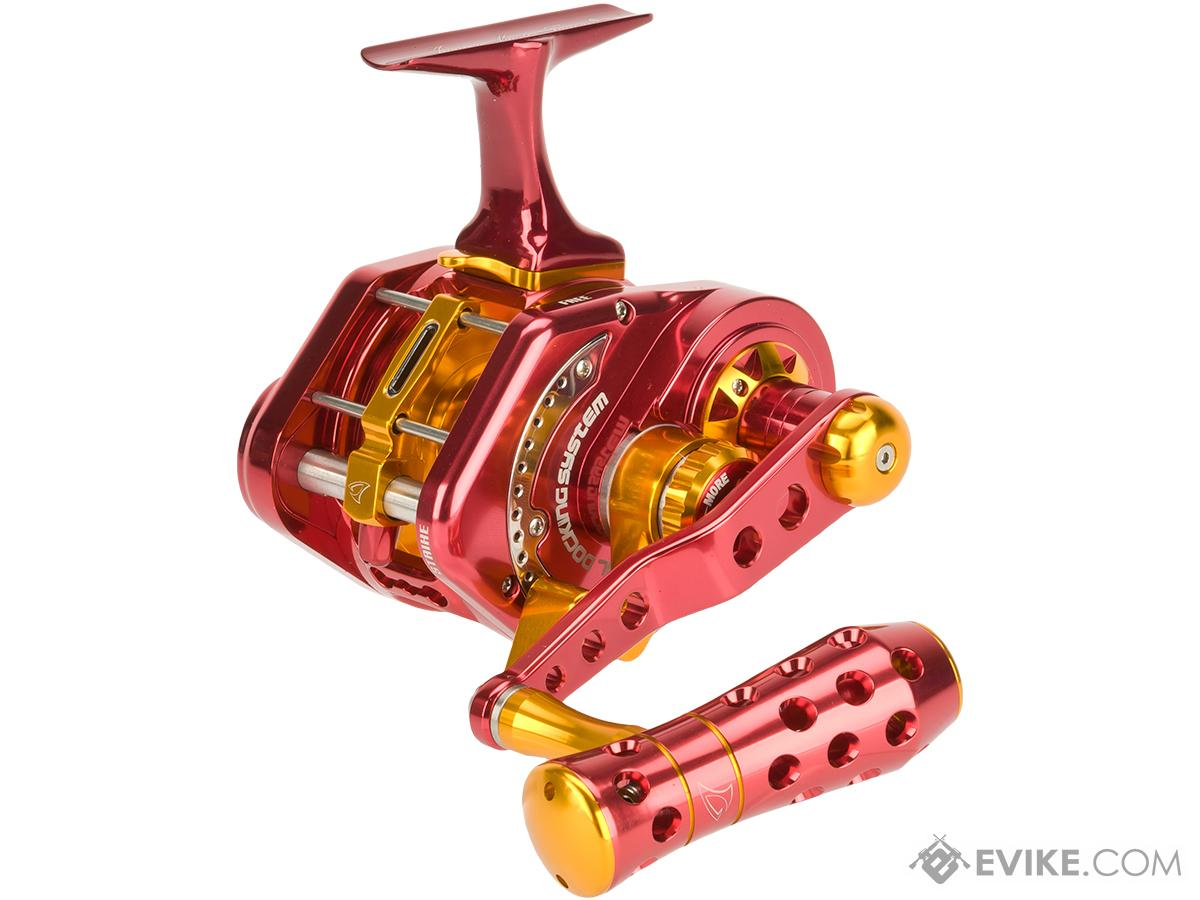 Jigging Master UnderHead Reel - Red / Gold (Size: PE5NLH Left Hand / Narrow)
