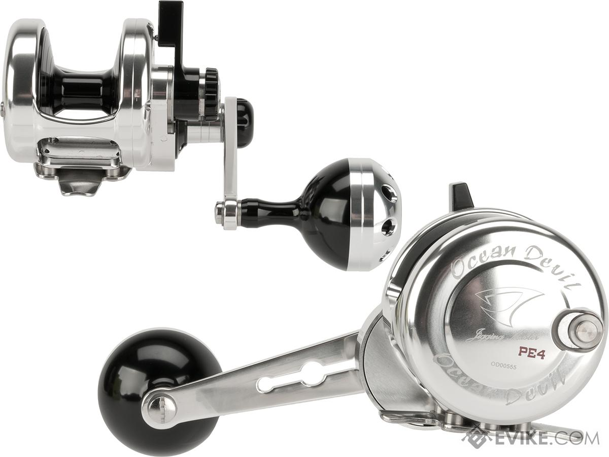Jigging Master Ocean Devil Fishing Reel - Silver / Black (Size: PE4)