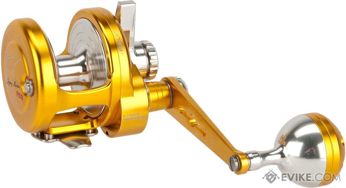 Jigging Master Ocean Devil Fishing Reel - Gold / Silver (Size: PE5 Left Hand)