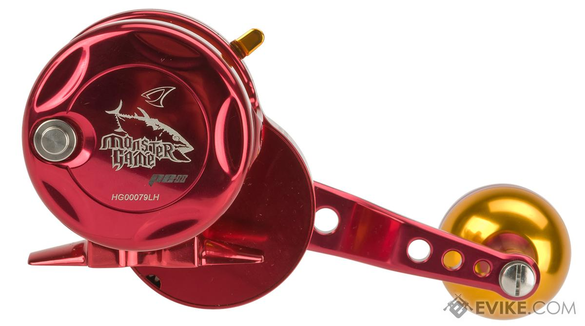 Jigging Master Monster Game High Speed Fishing Reel - Red / Gold (Size: PE2 Left Hand)