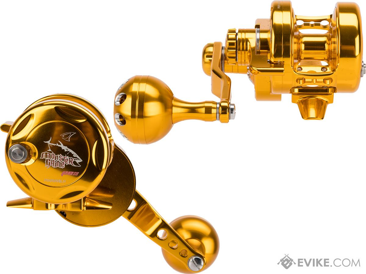 Jigging Master Monster Game High Speed Fishing Reel - Gold / Gold (Size: PE2 Left Hand)