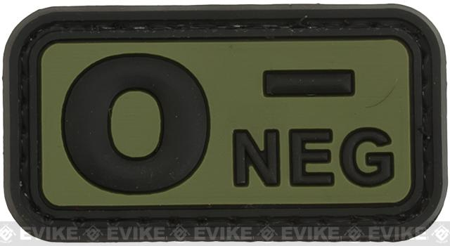 O Negative PVC Patch - Green
