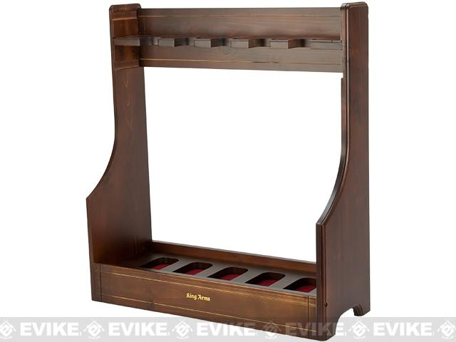 King Arms Adjustable Deluxe Real Wood Gun Rack / Stand