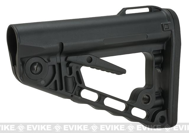 King Arms TWS Type-1 Retractable Tactical Stock for M4 Series Airsoft AEG Rifles - Black