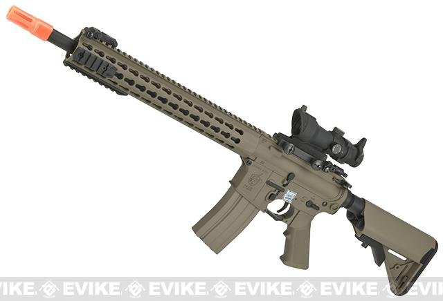 Knights Armament Airsoft SR-16E3 MOD 2 Airsoft AEG Rifle with Polymer Receiver by Echo1 (Color: Tan)