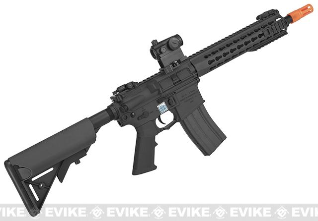 Knights Armament Airsoft SR-16E3 CQB Mod2 Airsoft AEG Rifle with Polymer Receiver by Echo1 - Black