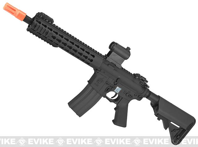 Knights Armament Airsoft SR-16E3 CQB Mod2 Airsoft AEG Rifle with Polymer Receiver by Echo1 (Color: Black)
