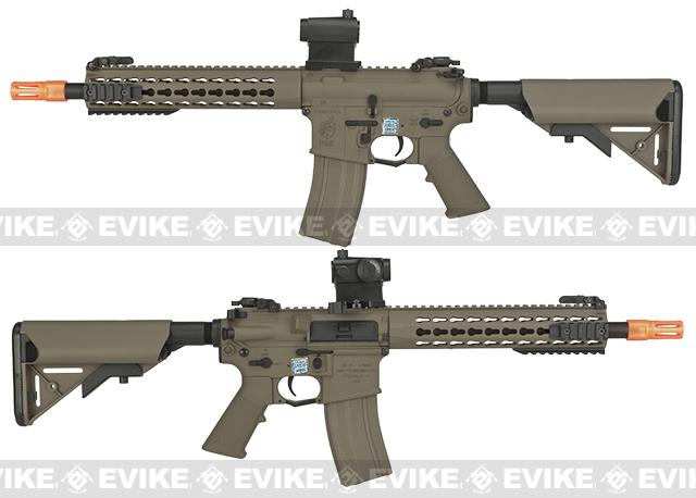 Pre-Order ETA March 2017 Knights Armament Airsoft SR-16E3 CQB Mod2 Airsoft AEG Rifle with Polymer Receiver by Echo1 - Tan