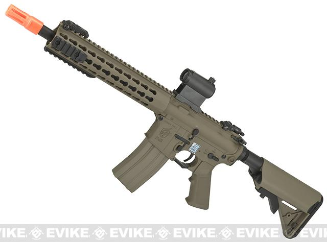 Knights Armament Airsoft SR-16E3 CQB Mod2 Airsoft AEG Rifle with Polymer Receiver by Echo1 - Tan