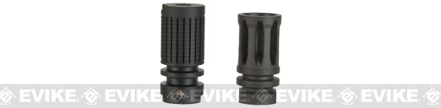 Knights Armament Airsoft Fully Licensed Triple Tap Flash Hider (14mm- / Negative / CCW)