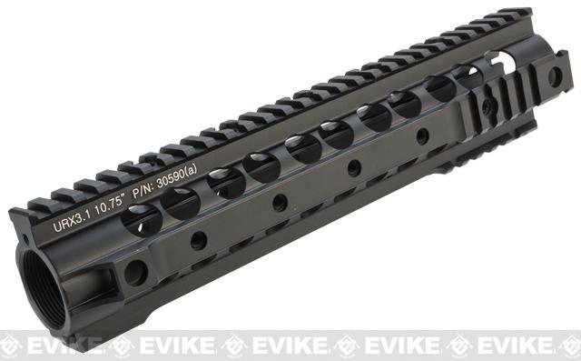 Knight's Armament Co URX 3.1 Free Float Rail System for M4 / M16 Series Airsoft AEG Rifles - 10.75 / Black